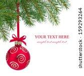 christmas ball on branch...   Shutterstock . vector #159293264