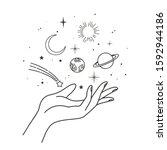 vector abstract logo design...   Shutterstock .eps vector #1592944186