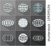 abstract globe symbol    icon... | Shutterstock . vector #159295154