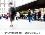 Picture Of Shopping People On...