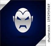 Silver Vampire Icon Isolated O...