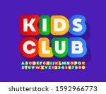 Vector Colorful Emblem Kids...