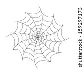 vector black cobweb isolated on ... | Shutterstock .eps vector #159297173