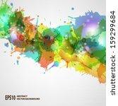 vector blots background | Shutterstock .eps vector #159299684