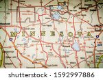 minesota state on the map   Shutterstock . vector #1592997886
