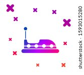 Color Bumper Car Icon Isolated...