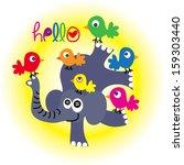 cute bird t shirt graphics cute ... | Shutterstock .eps vector #159303440