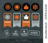 four seasons symbol vector... | Shutterstock .eps vector #159313160