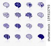 Stock vector brain icons 159313793