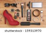 still life of fashion woman. ... | Shutterstock . vector #159313970