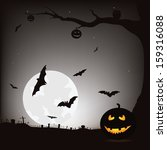 happy halloween vector... | Shutterstock .eps vector #159316088