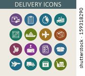delivery icons for website | Shutterstock .eps vector #159318290