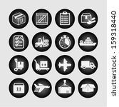 delivery icons for site | Shutterstock .eps vector #159318440