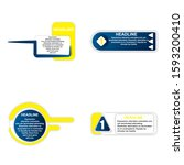 set of headliner sign....   Shutterstock .eps vector #1593200410