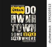 slogan text frame urban graphic ... | Shutterstock .eps vector #1593205513
