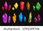 set of different colorful... | Shutterstock .eps vector #1593209746
