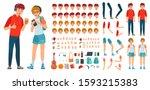 teenager character constructor. ...   Shutterstock .eps vector #1593215383