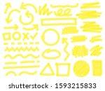 highlight marker strokes.... | Shutterstock .eps vector #1593215833