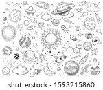 space doodle. astrology doodles ...   Shutterstock .eps vector #1593215860