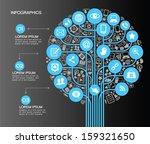 a modern set of infographics... | Shutterstock .eps vector #159321650