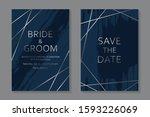 Set Of Modern Luxury Wedding...