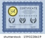 blue classic certificate...   Shutterstock .eps vector #1593228619