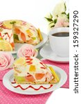 delicious jelly cake on table... | Shutterstock . vector #159327290