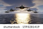Group Of F 35 Jet Fighters Low...