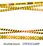 crossed caution tape with light ... | Shutterstock .eps vector #1593311689