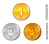 medals with numerals.