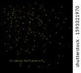 winter background  gold glitter ... | Shutterstock .eps vector #1593321970