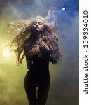 fashion art photo of diva... | Shutterstock . vector #159334010