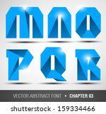 blue abstract font. chapter 03 | Shutterstock .eps vector #159334466