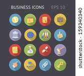 flat icons for business. vector ...