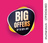 big offers 50  off shopping... | Shutterstock .eps vector #1593436483