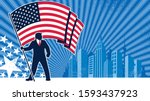 political campaign background... | Shutterstock .eps vector #1593437923