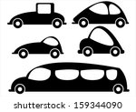 car icons isolated on white... | Shutterstock . vector #159344090
