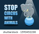stop circus with animals.... | Shutterstock .eps vector #1593452230