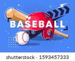 vector illustration of sports...   Shutterstock .eps vector #1593457333