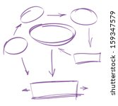 hand drawn marker infographics... | Shutterstock .eps vector #159347579