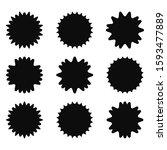 set of starburst  sunburst... | Shutterstock .eps vector #1593477889