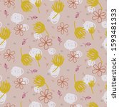abstract shapes and florals...   Shutterstock .eps vector #1593481333