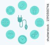 plug vector icon sign symbol