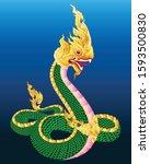 King Naga  Big Snake Thai Art...