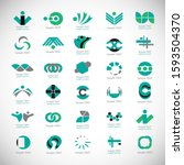 abstract business icon set.... | Shutterstock .eps vector #1593504370