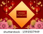chinese traditional template... | Shutterstock .eps vector #1593507949