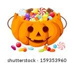 halloween candies in jack o... | Shutterstock .eps vector #159353960