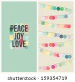 peace  love  joy. multicolored... | Shutterstock .eps vector #159354719