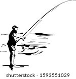 The Vector Silhouette Sketch Of ...