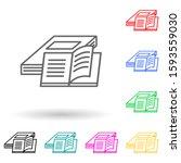 books multi color style icon....